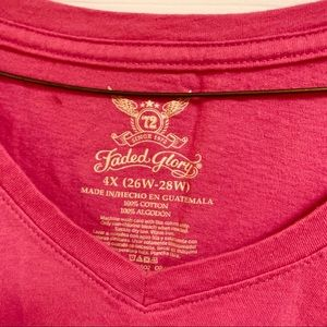 Faded Glory Tops - Faded Glory Long Sleeve V Neck T-Shirt 26/28